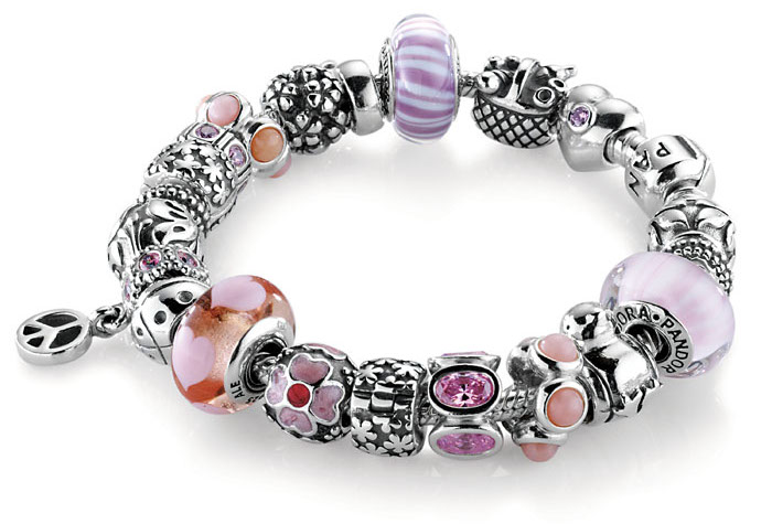 pandora silver and pink zirconia dangle peace charm 790516czs. Black Bedroom Furniture Sets. Home Design Ideas